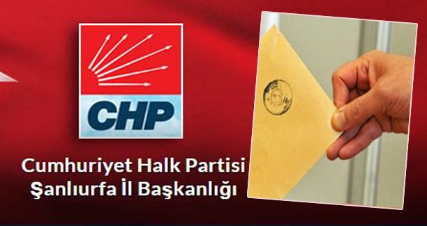 CHP'nin Şanlıurfa'daki 2 adayı belli oldu