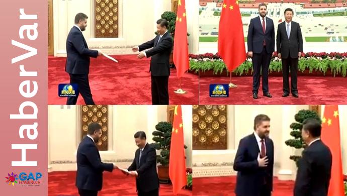 Çin Büyükelçisi Önen Güven Mektubunu sundu;