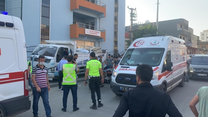 Cizre'de kamyonet kaza yaptı: 2 yaralı