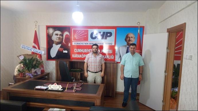 Coşkun'dan CHP Karaköprü İlçe Başkanlığına Ziyaret