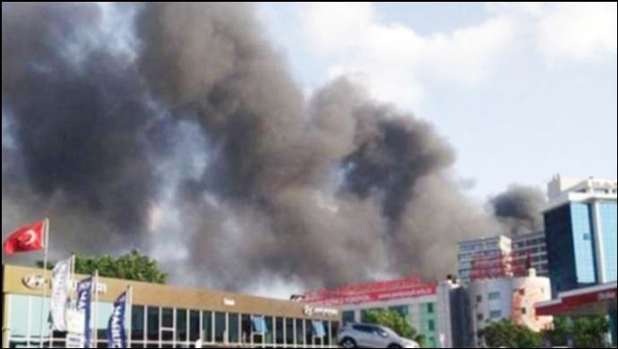 Davutpaşa'daki iplik fabrikasında yangın