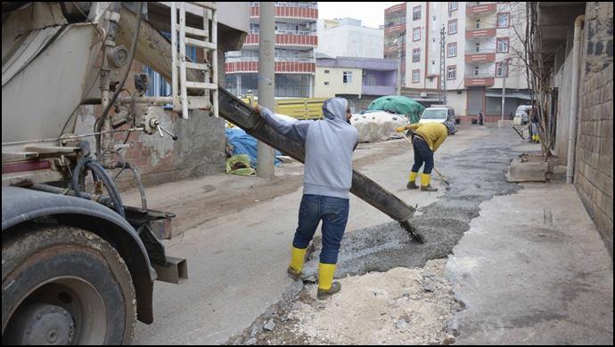 Dicle Mahallesinde Sokak Beton Çalışmaları Başladı