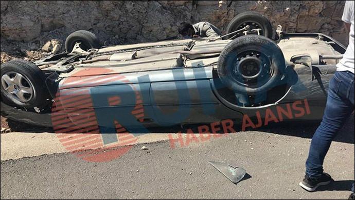 Diyarbakır Yolu'nda kaza: Araç takla attı