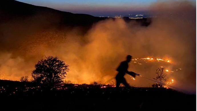 Elazığ'da yangın: 170 dönüm arazi zarar gördü