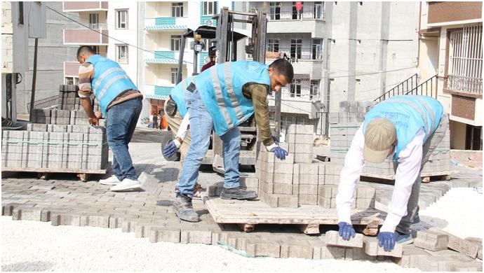 Eyyübiye Belediyesi Çalışmalarını söndürüyor –(Videolu)