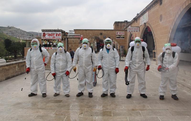 Eyyübiye Belediyesi Dezenfekte Çalışmalarını Sürdürüyor-(VİDEO)