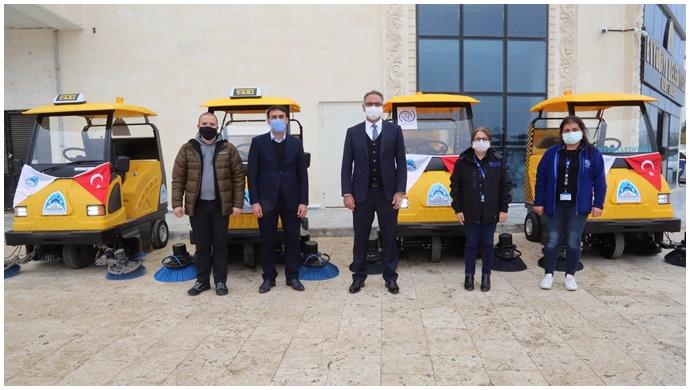 Eyyübiye belediyesi, filoya 5 yeni araç daha kattı-(VİDEO)