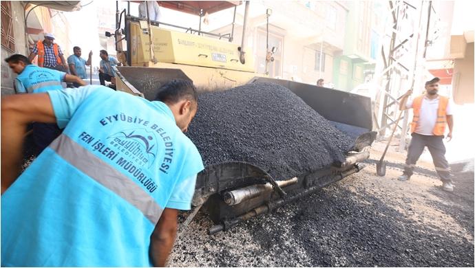 Eyyübiye Belediyesi Asfalt Atağını Sürdürüyor-(VİDEO)