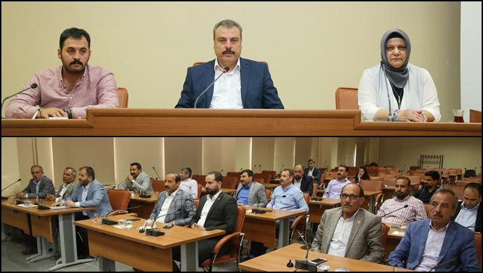 Eyyübiye belediyesi haziran ayı meclis toplantıları devam ediyor.