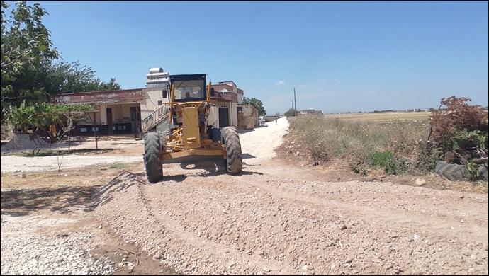Eyyübiye kırsalında yol yapımı aralıksız devam ediyor-(VİDEO)
