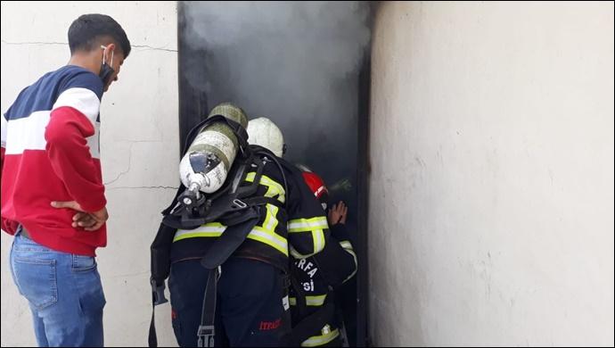 Eyyübiye'de ev yangını! İtfaiye müdahale etti-(VİDEO)
