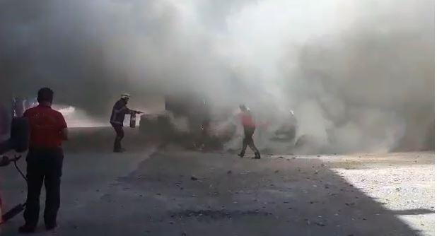 Eyyübiye'de Yine Bir Araç Kundaklandı
