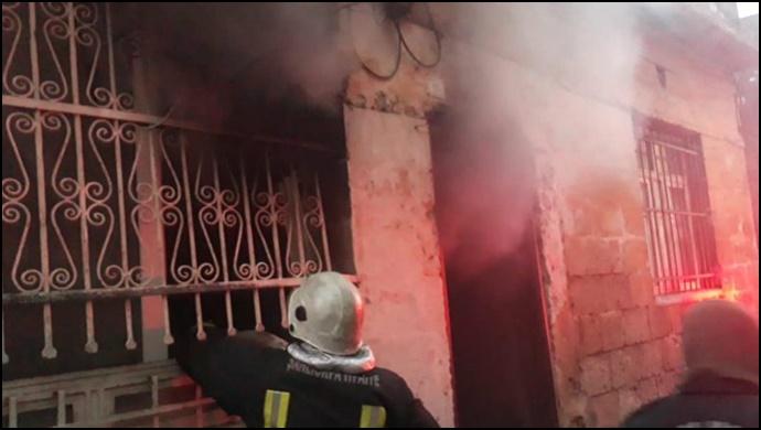 Eyyübiye'deki yangına itfaiye ekipleri müdahale etti