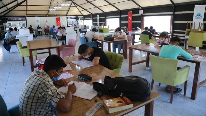 Eyyübiyeli gençler, eyyübiye belediyesi ile sınavlara hazırlanıyor-(VİDEO)