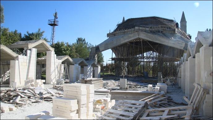 Eyyüp Nebi'de Cami ve Külliye İnşaatı Sürüyor-(Videolu)