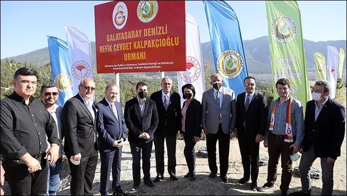 Galatasaray Hatıra Ormanı bu sefer Denizli'de hayata geçirildi