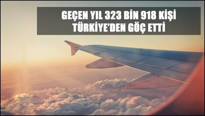 Geçen Yıl 323 Bin 918 Kişi Türkiye'den Göç Etti