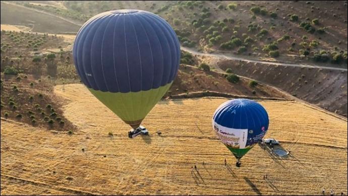 Göbeklitepe'de sezonun ilk sıcak hava balonu uçuşu gerçekleştirildi