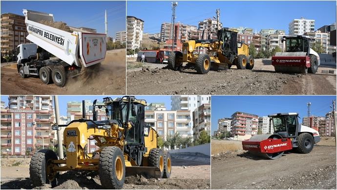 Güllübağ'a Yeni Yollar Kazandırılıyor-(VİDEO)