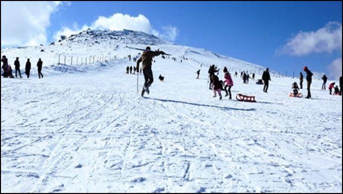 Güneydoğu'nun tek kayak merkezine yoğun ilgi