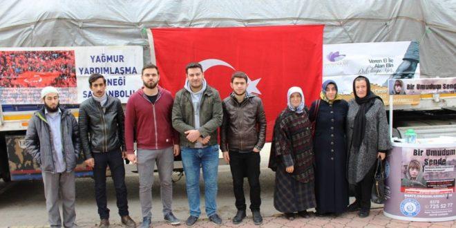 Halep Türkmenleri İçin Şanlıurfa'ya Yardım Tırları Gönderildi