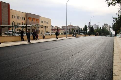 Halfeti Prestij Caddede Asfalt Serimi Tamamlandı