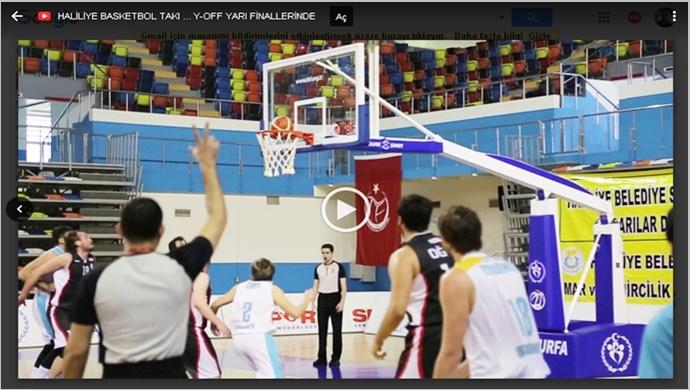 Haliliye basketbol takımı, 2. Lig play-off yarı finallerinde-(Görüntülü)