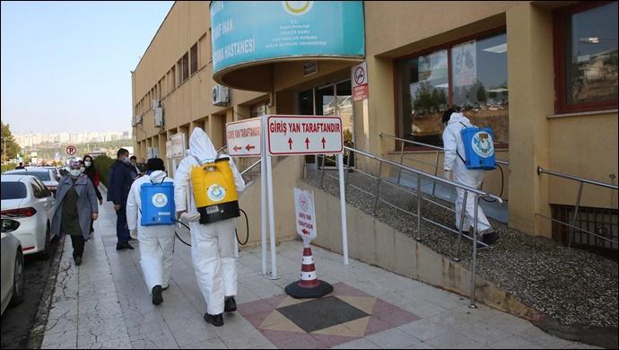 Haliliye Belediyesi, Hastaneleri Dezenfekte Ediyor-(VİDEO)