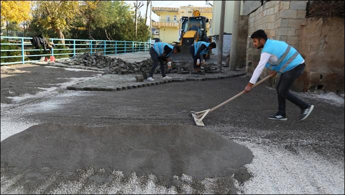 Haliliye belediyesinden 7 ayrı noktada yol çalışması-(VİDEO)