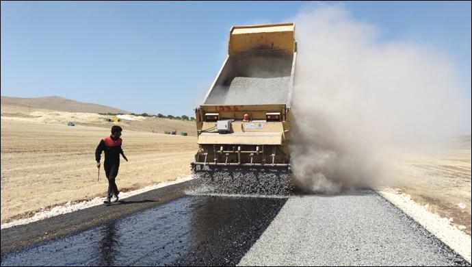 Haliliye ve Eyyübiye kırsalında asfalt atağı-(VİDEO)