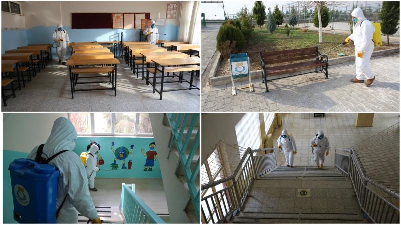Haliliye'de Kırsal Mahallelerdeki Okullar dezenfekte Edildi-(VİDEO)