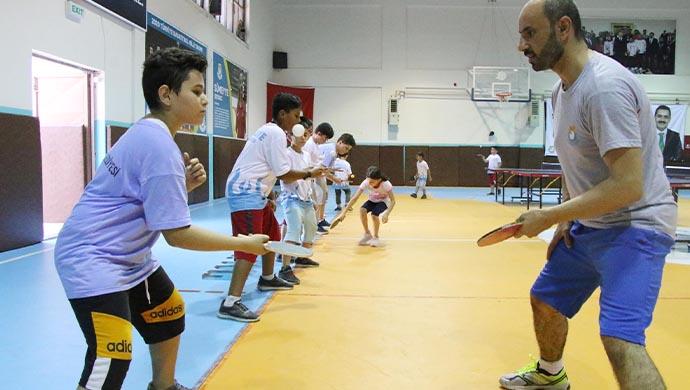 Haliliye'de masa tenisi kursuna çocuklardan yoğun ilgi-(VİDEO)
