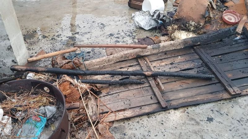 Haliliye'de odunlukta yangın çıktı! İtfaiye söndürdü