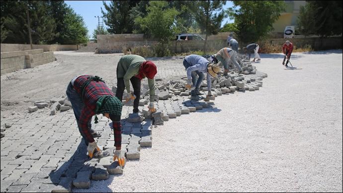 Haliliye'de sökülen parke taşları yeniden değerlendiriliyor-(VİDEO)
