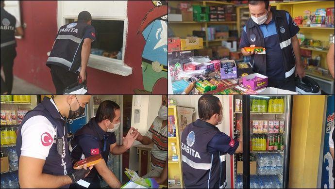 Haliliye'de yüzlerce gıda ürününe el konuldu