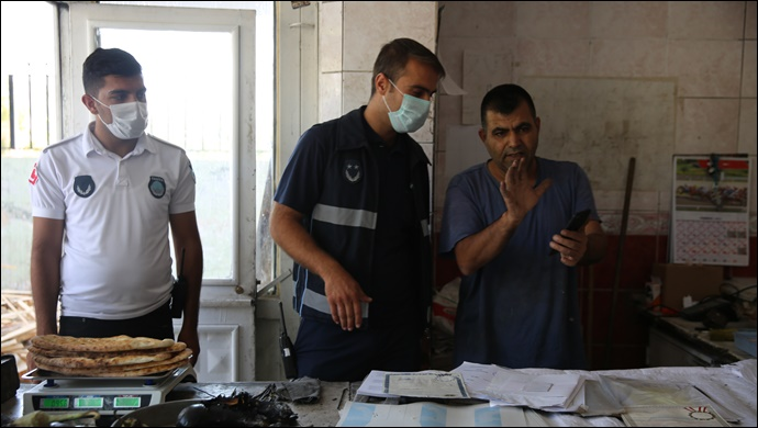 Haliliye'de zabıtadan fırın denetimi-(VİDEO)