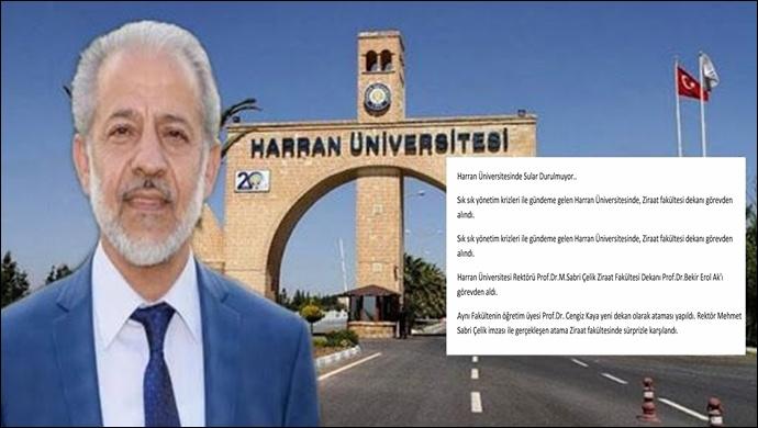 Harran Üniversitesinde Sular Durulmuyor..