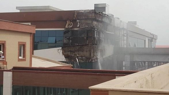 Harran Üniversitesinde Korkutan Yangın