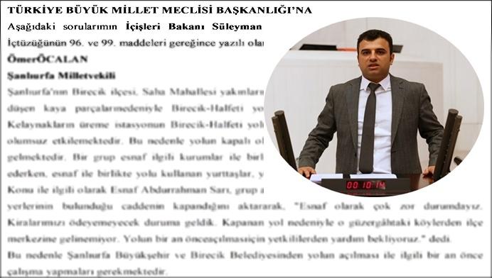 HDP Şanlıurfa Vekilinden Bakan Soylu'ya Önerge!