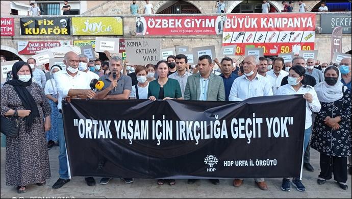 HDP Urfa İl Örgütünden Konya'daki Katliama Tepki-(VİDEO)
