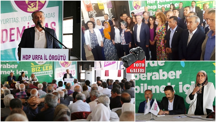 HDP Urfa'da aday adayları halka tanıttı