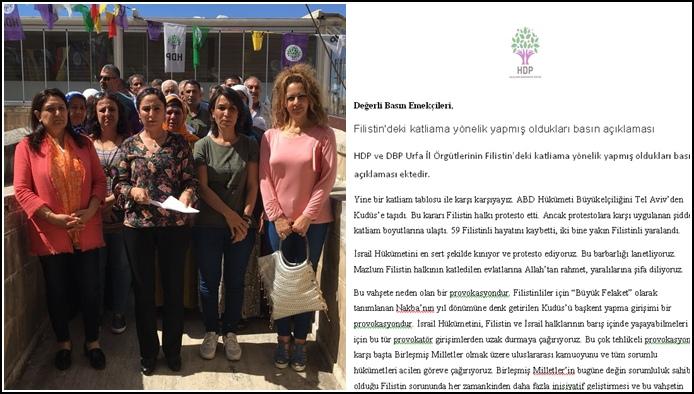 HDP ve DBP'den Filistin için dayanışma çağrısı