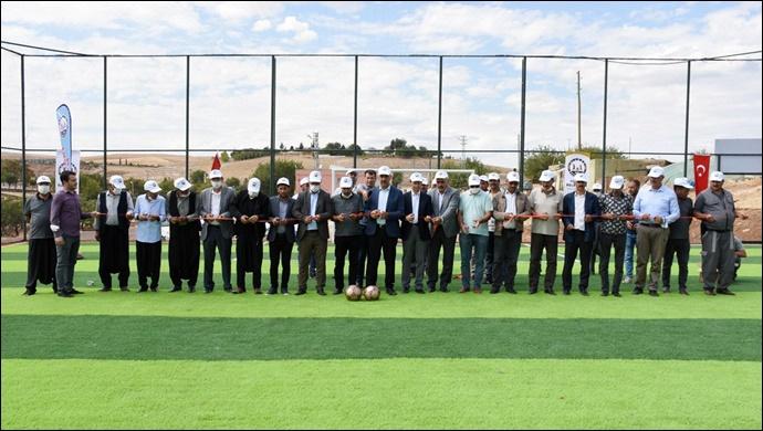 Hilvan Belediyesi Yeni Bir Semt Sahasının Açılışını Yaptı-(VİDEO)