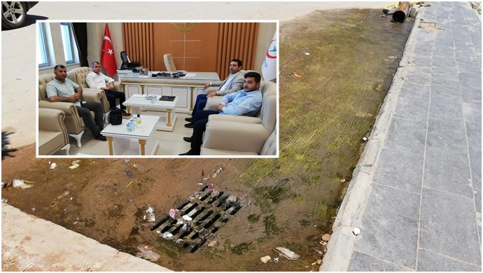 HÜDA PAR Başkanı'ndan yıkılma tehlikesi bulunan hastaneye ziyaret