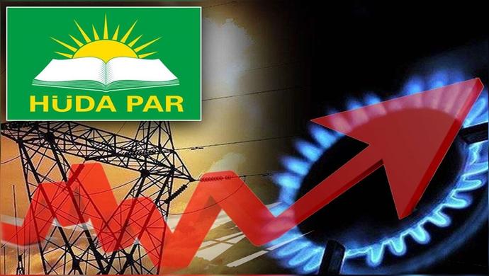 HÜDA PAR: Elektrik ve doğalgaz zamları geri alınmalı
