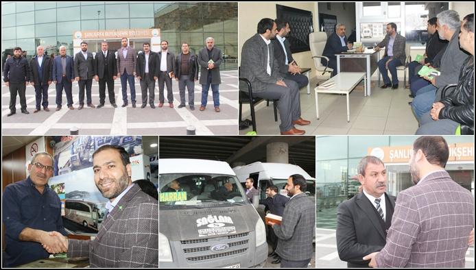 HÜDA PAR Karaköprü İlçe Teşkilatı Otogar esnafını ziyaret etti