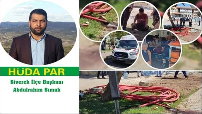 HÜDA PAR Siverek İlçe Başkanı Sımak'tan DEDAŞ'a tepki !