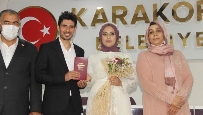 İHA muhabiri Ahmet Kolsuz'un mutlu günü