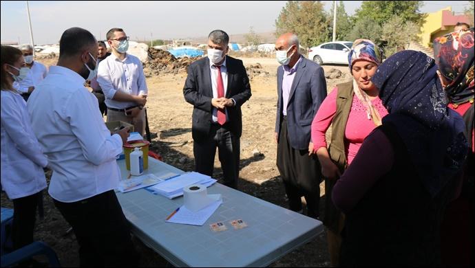 İl Sağlık Müdürü Prof.Dr. Mehmet gülüm aşılama çalışmalarını yerinde inceledi