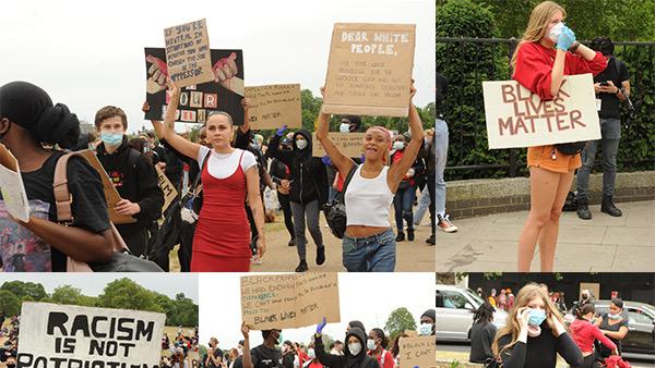 İngiltere'de ırkçılığa karşı protesto